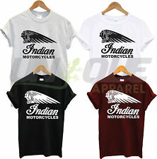 INDIAN MOTORCYCLES T SHIRT BIKER TOP TEE MOTORBIKE TSHIRT RETRO VINTAGE VICTORY