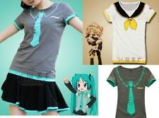 Vocaloid Hatsune Miku/Kagamine Rin/Len T-Shirt Cosplay Lady Girls Summer Wear @@