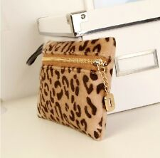 New Women Wallet Bag Leopard Black Key Pocket Handbag Clutch Shoulder Iphone Bag