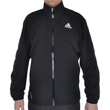 adidas Performance Mens Barricade Woven Tennis Track Jacket Top - Black