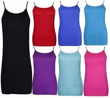 New Ladies Plus Size Strappy Summer Vest Tops Casual Tank Camisole Vests 14-28