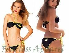 Summer '14 Batgirl Bandeau String Dc Comics Batman Bikini Bathing Suit Swimwear