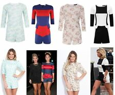 WOMEN LADIES CELEB SAM FAIERS MICHELLE KEEGAN FLORAL PRINT PLAYSUIT JUMPSUIT TOP