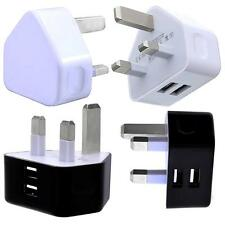 TWiN USB MAiNS TRAVEL CHARGER PLUG ADAPTER CABLE FOR MICROMAX CANVAS KNIGHT
