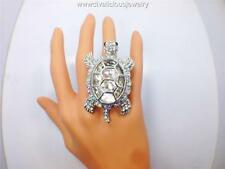 Crystal Turtle Bling Diva Ring - 3 Colors