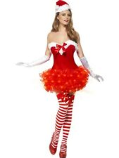 Fancy Dress Miss Sexy Santa Christmas Xmas Outfit Party Corset Tutu Lights Up