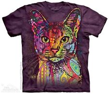 THE MOUNTAIN ABYSSINIAN CAT KITTEN COLORFUL ARTISTIC PEACE T TEE SHIRT S-5XL