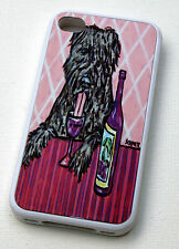 rubber fitted case for i phone 5 iphone 4 4s bouvier de flandres art  WINE gift