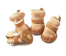 JML Design-New Cute Cozy Color Fur Snow Boots Shoes For Small Dog Puppy X1833