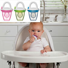New Munchkin Baby Silcone Food Feeder - Weaning Mesh Baby Feeding -Three Colours
