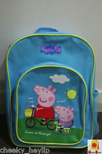 PEPPA PIG & GEORGE PIG PREMIUM QUALITY KIDS PRESCHOOL SCHOOL PLUSH BACKPACK BAG
