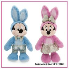 TWO DISNEY MICKEY AND MINNIE MOUSE EASTER PLUSH RABBIT BUNNY TOYS BNWT