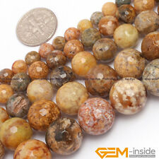 Natural Multi-Color Jasper Gemstone Faceted Round  Beads For Jewelry Making 15""