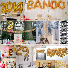 "40""14""Optional Foil Letter A-Z/1-9 Ballons Party Birthday Wedding Decor Supplies"