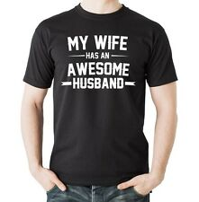 My Wife Has An Awesome Husband T-shirt Perfect Anniversary Gift For Husband