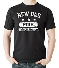 New Dad 2015 Rookie Dept. Cool T-shirt Baby Shower Gift For Father