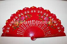 Quality Spanish Flamenco Vintage Dance Wooden Folding Hand Held Fan Multi-Colors