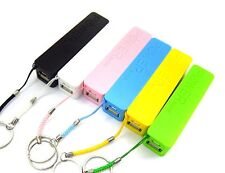 External Portable PowerBank KeyRing Style USB Battery Charger For Samsung Iphone
