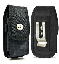 Vertical Rugged Canvas Clip Case Pouch for Cell Phones FITS w/ MOPHIE PACK ON IT
