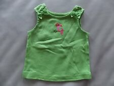 NWT Girl's Gymboree Wild For Zebra parrot green tank top shirt ~ 3 6 12 months