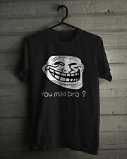 Internet Meme T-Shirt, Troll face rage comic character, Black and White Tee