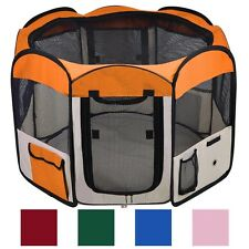 "45""x45""x24"" Medium 2 Door Pet Playpen Exercise Kennel Soft Tent Puppy Dog Crate"