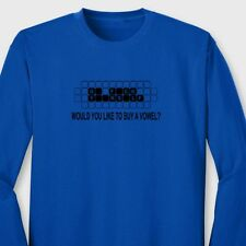 Want To Buy a Vowel Funny Sarcastic TV Game Show Humor Long Sleeve Tee