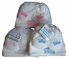 Babies hat and booties newborn gift set girls boys - pink, blue or beige