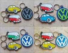 3X VW Volkswagen Car Van and VW Logo Rubber Keyring Keychain Collectible Gift