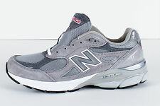 "NEW MEN'S NEW BALANCE RUNNING COURSE GREY ""MADE IN USA"" M990GL3 D MEDIUM (T)"