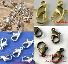 Wholesale 20pcs Silver/Golden Metal Finding Diy Lobster Parrot Claw Clasps 12mm
