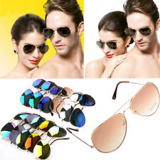 Hot 80s Vintage Classic Fashion Aviator Women Men Mirrored Lens Sunglasses New