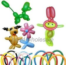 100pcs Latex Balloons Mixed Color Magic Long Animal Tying Making Balloons Twist
