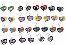 swirl heart earring dangle charm NBA PICK YOUR TEAM