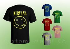 Nirvana Smiley Face T-shirt Smiley Face