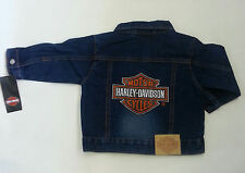Harley Davidson Baby Infant Boys Denim Jean Jacket - 24M 18M - Outerwear