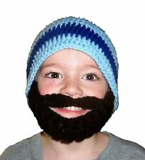 HANDCRAFTED CHILD / ADULT BEARDED BEANIE HAT ****CHOOSE HAT & BEARD COLORS****