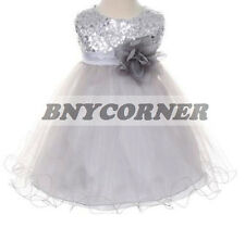 sequined Flower Girls Dresses Summer Prom Party Birthday Pageant Bridesmaid Jr.