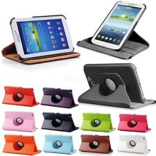 """360 Rotating Case Cover Stand For Samsung Galaxy Tab 3 7"""" 7.0 Tablet T210 T217"""