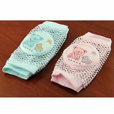 Breathable Baby Crawling Safety Mesh Elbow Knee Pad Protector with Foam Cotton
