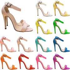 LADIES PARTY TOE BRIDAL PATENT HIGH HEELS SHOES SANDALS FLY102-3 SIZE US 4 -11