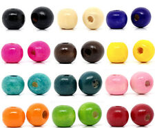 200 Dyed Round Wood Spacer Beads 10x9mm M0219