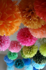 3 party paper pompoms  1 large,1 medium, 1 small , wedding , party , baby shower