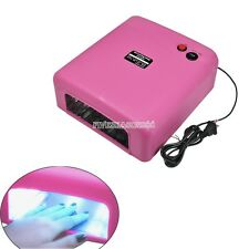36W Nail UV Lamp Acrylic Gel CURING Light TIMER DRYER SPA Watt Rose FV88