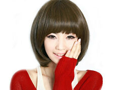 Sexy Fashion Girls' Nifty Fluffy Bob Natural Hair Lady Cosplay Costume Wigs +Cap