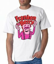 FRANKEN BERRY CEREAL T-SHIRT / GENERAL MILLS MONSTER COUNT CHOCULA BOO BERRY