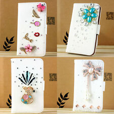 handmade flip leather card slot wallet 3d bling case cover stand For nokia Lumia