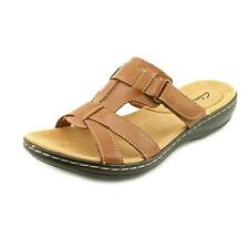 Clarks Leisa Bora Womens Leather Slides Sandals Shoes