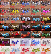 10pcs Faceted Big Hole Rondelle Glass Lampwork Beads Fit European Charm Bracelet
