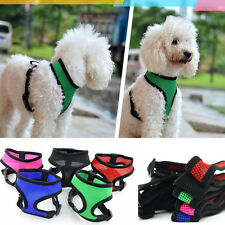 2014 NEW ANY SIZE & COLOR - Soft MESH DOG PUPPY VEST HARNESS -5 COLORS Freeship